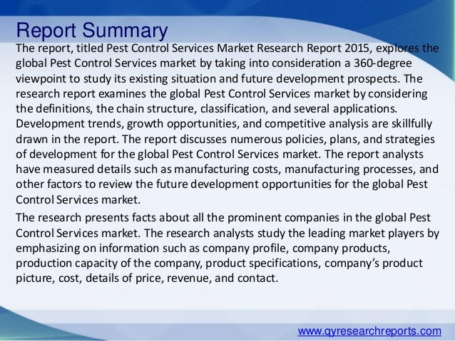 Global Pest Control Services Market 2015 Industry Overview, Analysis,…