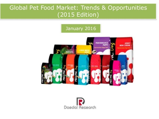 "pet food market global Of the 12 broad factors covered in packaged facts/watt publishing's global pet food industry survey, new product trends tops the list, with over two-thirds (67%) of survey respondents considering this trend ""very important"" to the pet food industry during the next five years."