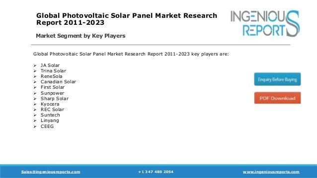 Photovoltaic Solar Panel Residential Market Estimates and
