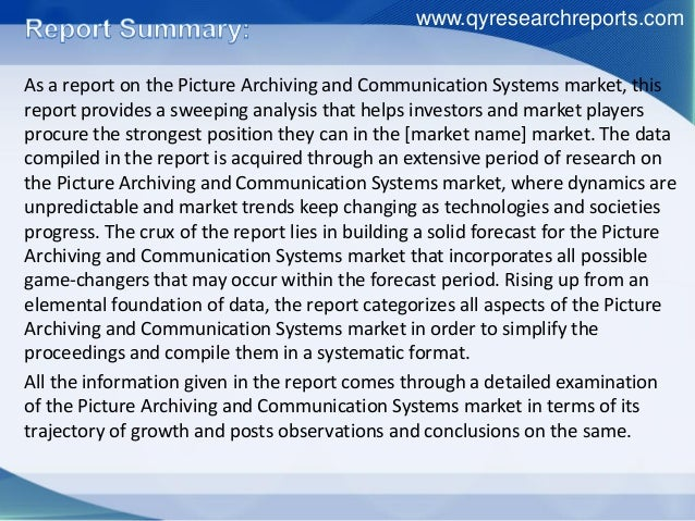 Picture Archiving and Communication System (PACS) Market - Global Forecast to 2026