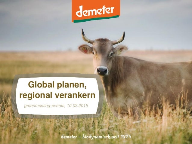 Global planen, regional verankern greenmeeting-events, 10.02.2015