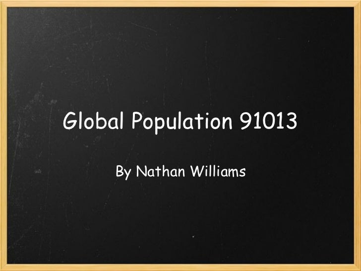 Global population nathan
