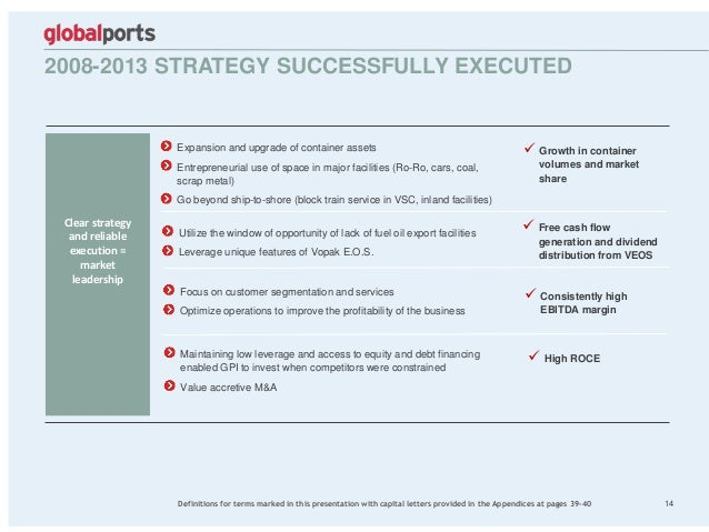 2008-2013 STRATEGY SUCCESSFULLY EXECUTED 14 Clear strategy and reliable execution = market leadership Utilize the window o...