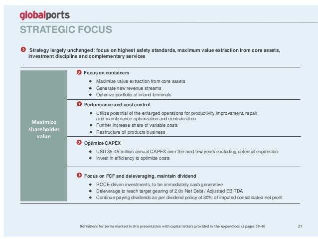 STRATEGIC FOCUS 21 Strategy largely unchanged: focus on highest safety standards, maximum value extraction from core asset...