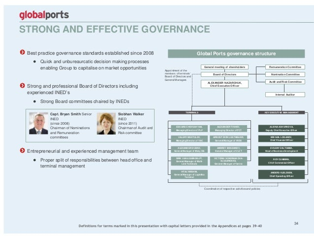 Best practice governance standards established since 2008 ● Quick and unbureaurcatic decision making processes enabling Gr...
