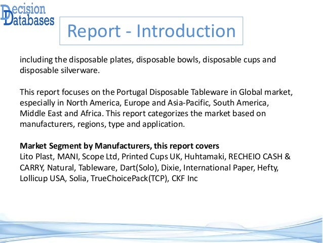 Global Portugal Disposable Tableware Market Analysis Report