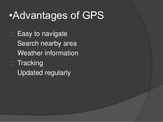 limitations of the global positioning system The global positioning system or gps is a great technological despite these limitations in order to implement a global navigation system based on this.