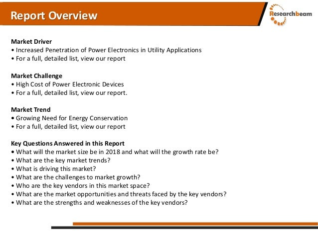 Global power electronics market SWOT Analysis