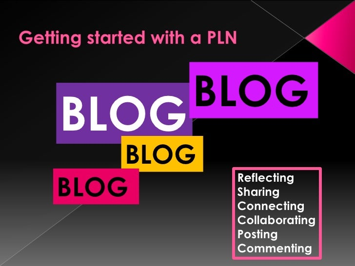 Getting started with a PLN<br />BLOG<br />BLOG<br />BLOG<br />BLOG<br />Reflecting<br />Sharing<br />Connecting<br />Colla...