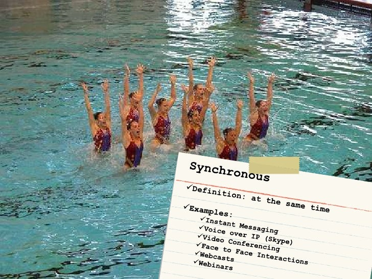 Synchronous<br /><ul><li>Definition: at the same time