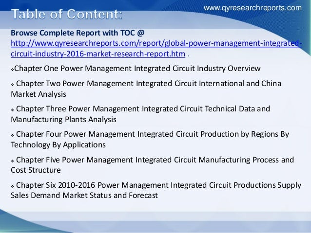 research report on china integrated circuit The growth rate of china integrated circuit industry ranks the first in the world after china joined wto the average annual growth rate of the production volume and sales revenue of integrated circuits exceeded 20% in 2001-2012.
