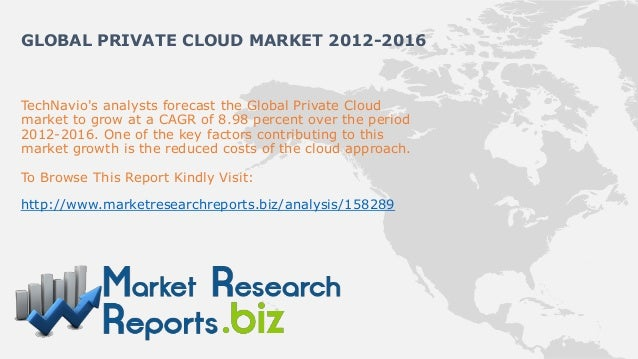 GLOBAL PRIVATE CLOUD MARKET 2012-2016TechNavios analysts forecast the Global Private Cloudmarket to grow at a CAGR of 8.98...