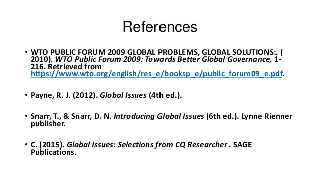 Global problems and global solutions according to the wto 9 fandeluxe Gallery