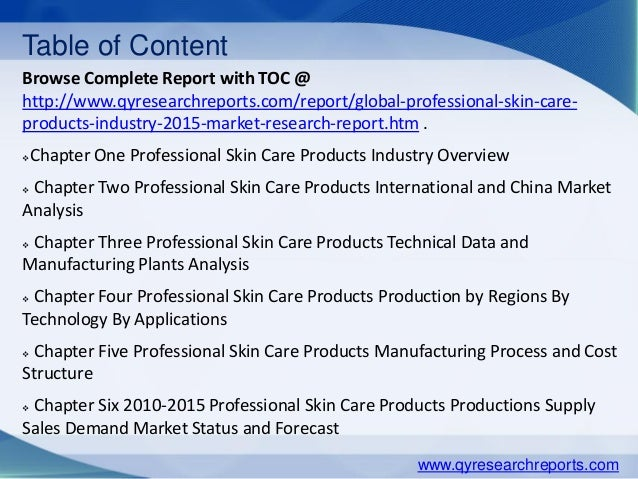 market research of male skin care Market research report on the skin care industry, with skin care product data, market share, and industry statistics.