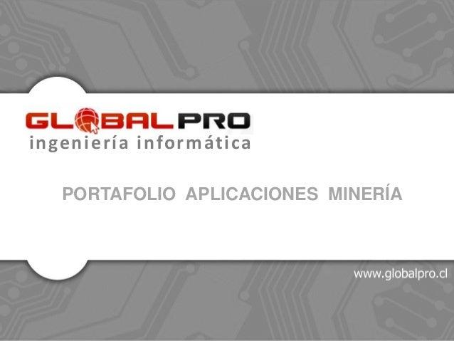 ingeniería informática PORTAFOLIO APLICACIONES MINERÍA