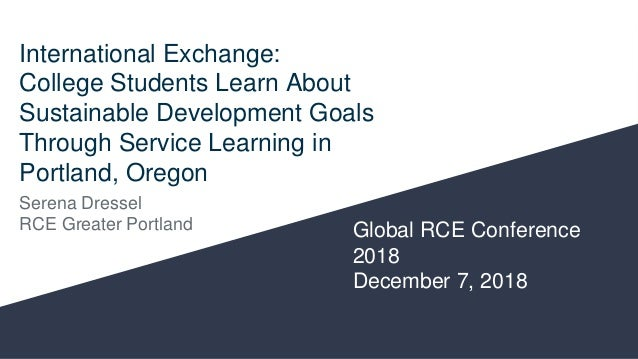 International Exchange: College Students Learn About Sustainable Development Goals Through Service Learning in Portland, O...