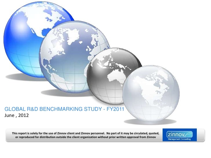 GLOBAL R&D BENCHMARKING STUDY - FY2011June , 2012  This report is solely for the use of Zinnov client and Zinnov personnel...