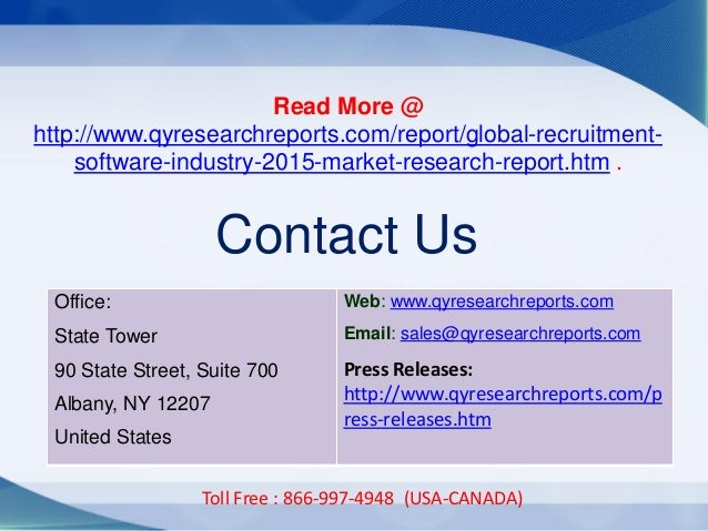 Office: State Tower 90 State Street, Suite 700 Albany, NY 12207 United States Web: www.qyresearchreports.com Email: sales@...