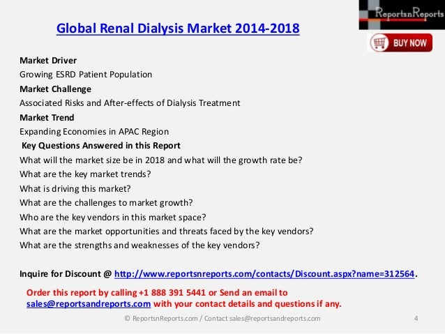 Global Dialysis Market Research Report