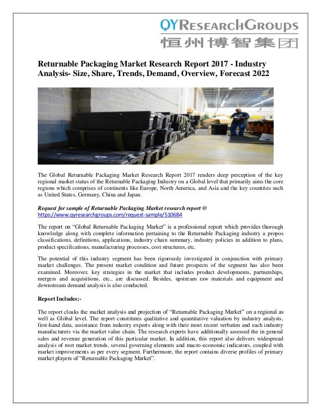 global returnable transport packaging market Technavio recognizes the following companies as the key players in the global returnable transport packaging market: ifco systems nv, ssi schaefer system.