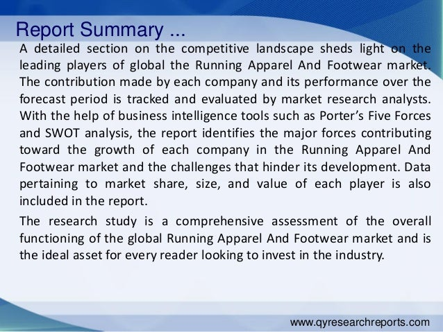 global running apparel and footwear market Global running apparel and footwear industry 2015 market trends, analysis, overview & forecast 2020.