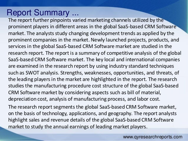 Report Summary ... The report further pinpoints varied marketing channels utilized by the prominent players in different a...