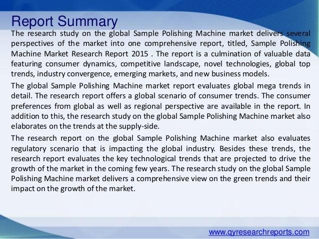Global sample polishing machine market 2015 industry analysis, resear…