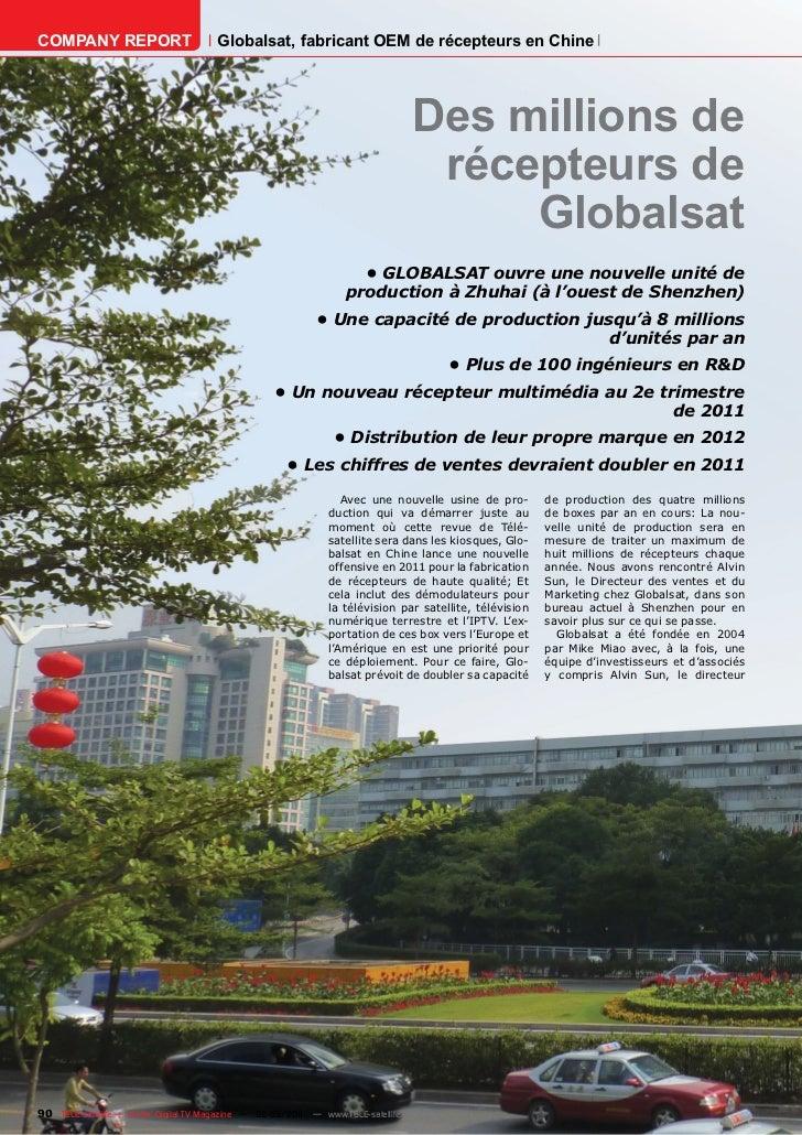 COMPANY REPORT                         Globalsat, fabricant OEM de récepteurs en Chine                                    ...