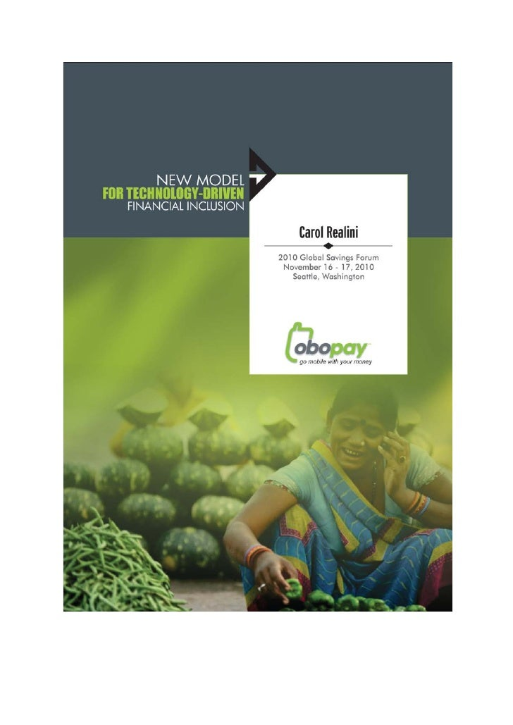 NEW MODEL FOR TECHNOLOGY-DRIVEN                                                              FINANCIAL INCLUSION          ...