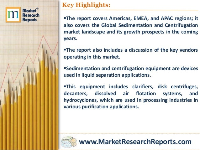 Global sedimentation and centrifugation market