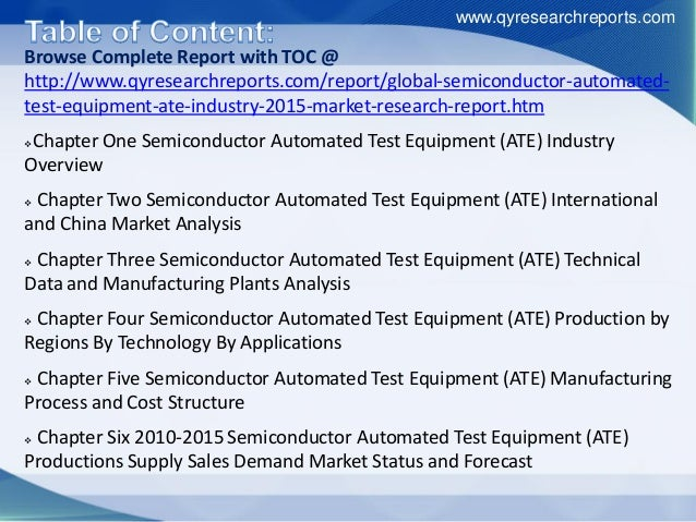 Ate Semiconductor Testing : Global semiconductor automated test equipment ate market