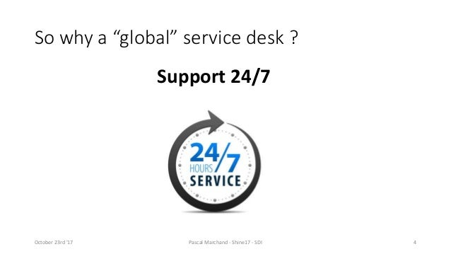 ... 4. So Why A U201cglobalu201d Service Desk ?