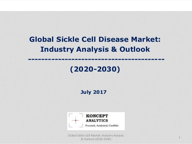 Global Sickle Cell Disease Market: Industry Analysis & Outlook ----------------------------------------- (2020-2030) Indus...