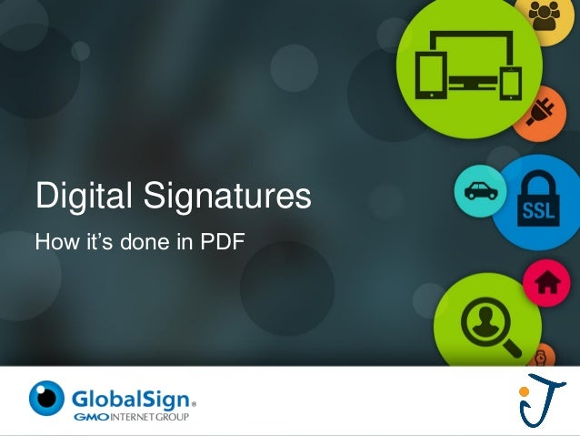 Digital Signatures  How it's done in PDF