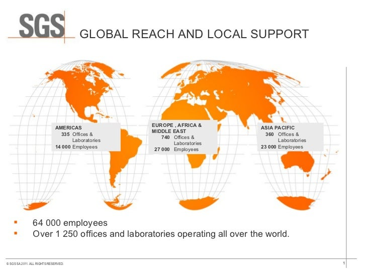GLOBAL REACH AND LOCAL SUPPORT ASIA PACIFIC   360  Offices & Laboratories 23 000 Employees  <ul><li>64 000 employees </li>...