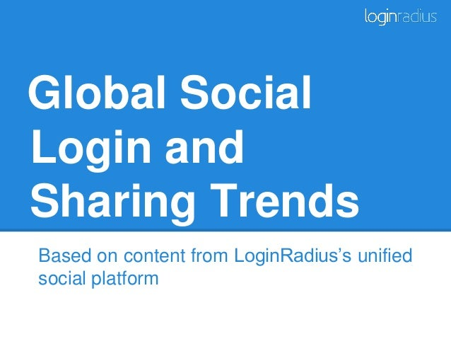 Global Social Login and Sharing Trends Based on content from LoginRadius's unified social platform