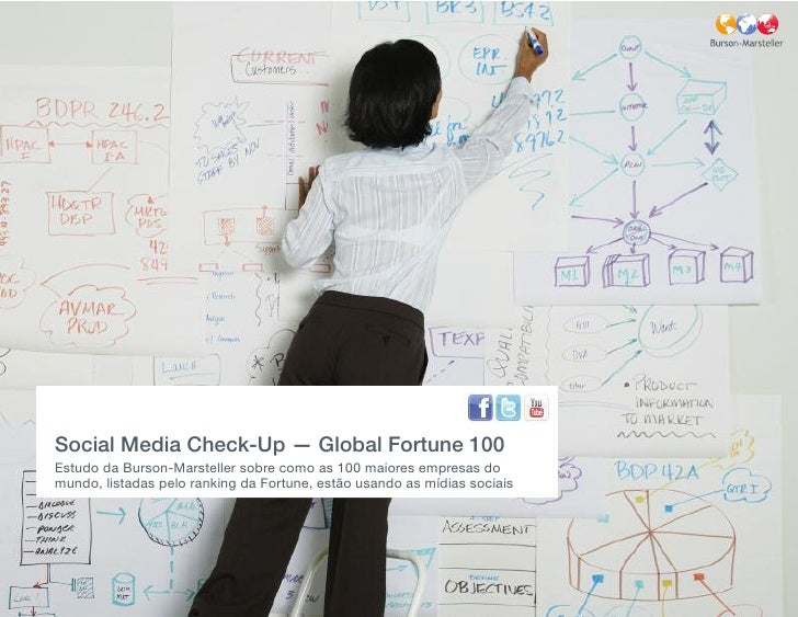 Social Media Check-Up — Global Fortune 100 Estudo da Burson-Marsteller sobre como as 100 maiores empresas do mundo, listad...