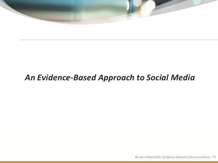 An Evidence-Based Approach to Social Media                                Burson-Marsteller Evidence-Based Communications ...