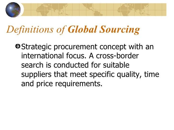Global sourcing global sourcing presented by pradeep kharvi mba i 6146 2 malvernweather Gallery