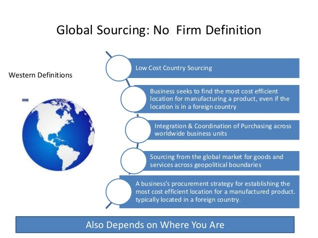 benefits of sustainable global sourcing essay Executives behave as though they have to choose between the largely social benefits of developing sustainable products or processes and the financial costs of doing so  enterprises must manage.