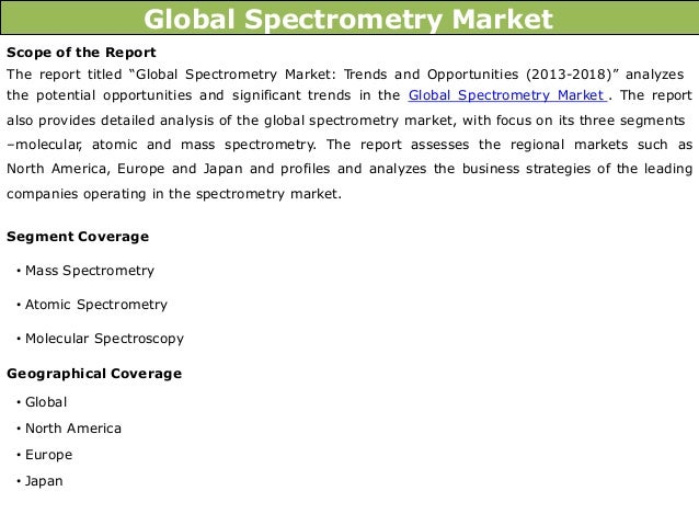 global molecular spectroscopy market 2014 2018 Detailed table of contents for report global molecular absorption spectroscopy industry 2017 market research report now available at asklinker.