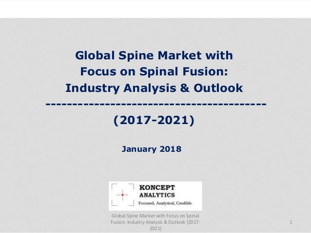 Global Spine Market with Focus on Spinal Fusion: Industry Analysis & Outlook ----------------------------------------- (20...