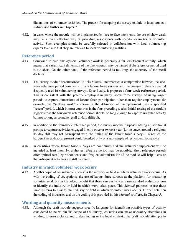 Manual on the Measurement of Volunteer Work - International Labour Of…