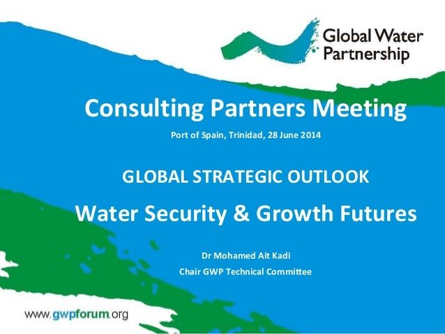Consulting Partners Meeting Port of Spain, Trinidad, 28 June 2014 GLOBAL STRATEGIC OUTLOOK Water Security & Growth Futures...