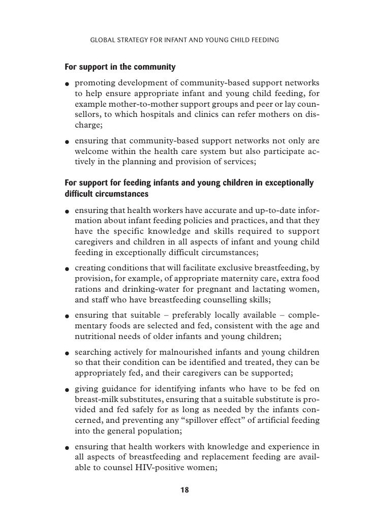 global strategy for infant and young child feeding  24