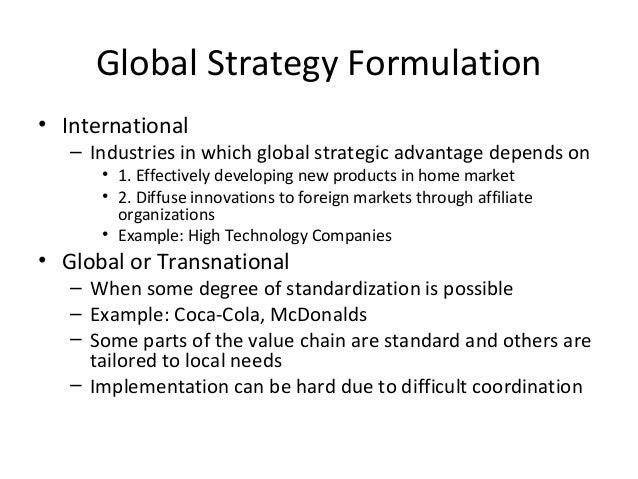 Coca cola localization and standardization strategies