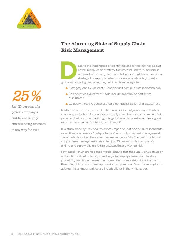 Outsourcing and supply chain management research paper