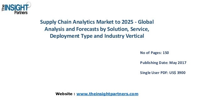 Supply Chain Analytics Market to 2025 - Global Analysis and Forecasts by Solution, Service, Deployment Type and Industry V...