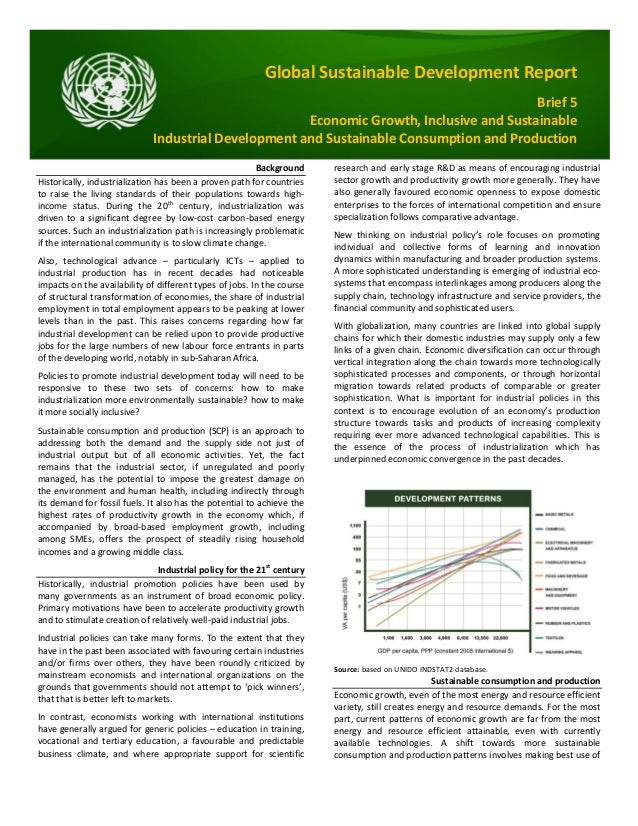Global sustainable development report