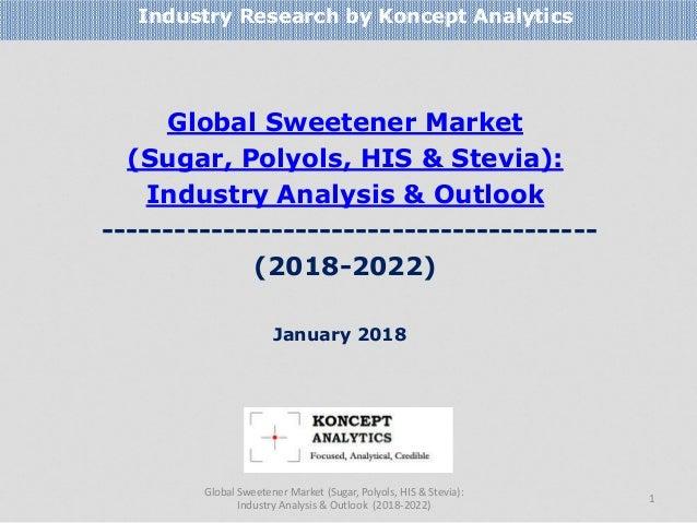Global Sweetener Market (Sugar, Polyols, HIS & Stevia): Industry Analysis & Outlook --------------------------------------...